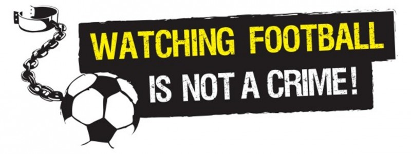 Watching football is not a crime slider